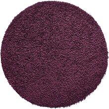 Teppich Toronto rund, lila (Ø 120 cm)