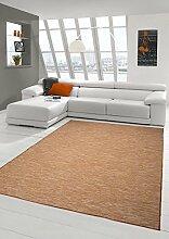 Teppich-Traum Teppich Modern Flachgewebe Küchenteppich Indoor Teppich Outdoor Teppich beidseitig nutzbar Farbe Terra, Größe 120x160 cm