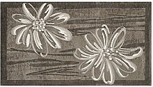 Teppich Velour mit Rückseite rutschfest Position Amethyst by Suardi 65x110(2Tappeti) Schlamm
