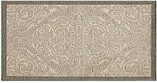 Teppich Velour mit Rückseite rutschfest Position Velvet by Suardi 85x150 Taupe