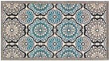 Teppich Velour mit Rückseite rutschfest Typ Aphrodite 65x110(2 tappeti) türkis