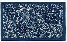 Teppich Velour mit Rückseite rutschfest Typ Astrid 115x175 cm blau
