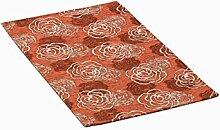 Teppich Velour mit Rückseite rutschfest Typ Azalea 115x175 cm Arancio