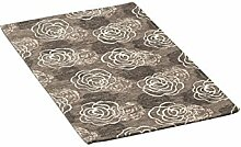 Teppich Velour mit Rückseite rutschfest Typ Azalea 65x110(2 tappeti) Schlamm