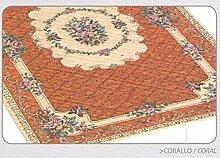 Teppich Velour mit Rückseite rutschfest Typ Bouquet 140x195 cm Arancio