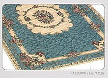 Teppich Velour mit Rückseite rutschfest Typ Bouquet 175x240 cm hellblau