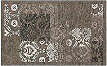 Teppich Velour mit Rückseite rutschfest Typ GHIBLI 140x195 cm Schlamm