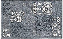 Teppich Velour mit Rückseite rutschfest Typ GHIBLI 175x240 cm grau