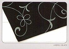 Teppich Velour mit Rückseite rutschfest Typ Metalle 140x195 cm schwarz
