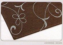 Teppich Velour mit Rückseite rutschfest Typ Metalle 65x110(2 tappeti) braun