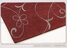 Teppich Velour mit Rückseite rutschfest Typ Metalle 85x150 cm bordeaux