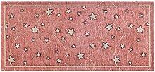 Teppich Velour mit Rückseite rutschfest Typ Stars 115x175 cm Rosa