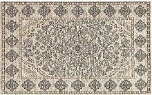 Teppich Velour rutschfest Modell COMETA 85x150cm elfenbein