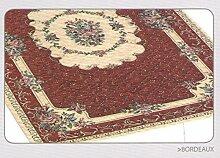 Teppich Velour rutschfest Typ Bouquet 85x150cm bordeaux
