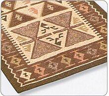 Teppich Velour rutschfest Typ Shirvan 85x150cm braun