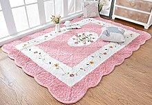Teppich verdicken Hause Teppich Schlafzimmer voller rechteckiger Bett Crawl Matte ( Farbe : 1 , größe : 150*210cm )