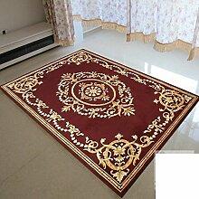 Teppich/Verschlüsseln Sie verdickten kontinentalen Wohnzimmer Couchtisch Schlafzimmer Teppich-J 140x200cm(55x79inch)
