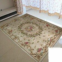 Teppich/Verschlüsseln Sie verdickten kontinentalen Wohnzimmer Couchtisch Schlafzimmer Teppich-M 160x230cm(63x91inch)