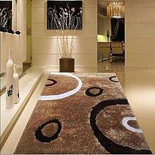 Teppich, verschlüsselt Bright Silk Muster Teppich, Wohnzimmer Couchtisch Teppich, Schlafzimmer Bedside Carpet ( farbe : A3 , größe : 120cmx170cm )