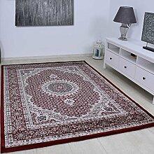 Teppich VIMODA Klassisch Gemustert Kreis, sehr dicht gewebt, Orient Muster in Rot - Top Qualität; Maße: 240x340 cm
