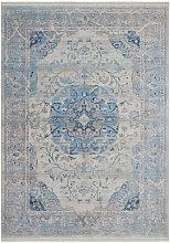 Teppich Vintage Flachflor Orientalisch Blau