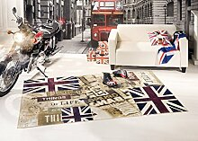 Teppich Vintage Flagge UK Signboard 120X170