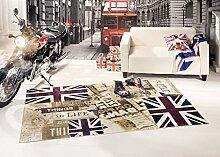 Teppich Vintage Flagge UK Signboard 80X150