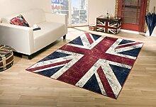 Teppich Vintage Flagge UK Union Jack 185X275
