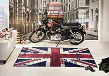 Teppich Vintage Flagge UK Union Jack Newspaper 160X230