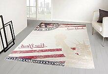Teppich Vintage Flagge USA Lady Liberty Postkarte 120X170