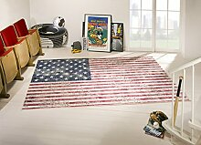 Teppich Vintage Flagge USA Stars&Stripes 120X170