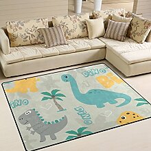 Teppich von Bennigiry mit Dinosaurier-Motiv,
