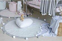Teppich waschbar Bubbly hellblau von Lorena Canals