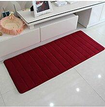 Teppich Wasser-Absorption rutschfester einfacher Normallack-Teppich-Vierecks-Badezimmer-Wohnzimmer-Sofa-Teppich-Hall-Schlafzimmer-Teppich Lebensmittel ( Farbe : D , größe : 50*200CM )