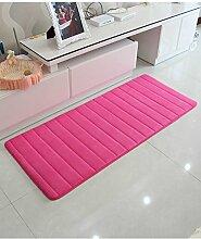 Teppich Wasser-Absorption rutschfester einfacher Normallack-Teppich-Vierecks-Badezimmer-Wohnzimmer-Sofa-Teppich-Hall-Schlafzimmer-Teppich Lebensmittel ( Farbe : D , größe : 60*160CM )