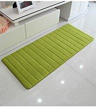 Teppich Wasser-Absorption rutschfester einfacher Normallack-Teppich-Vierecks-Badezimmer-Wohnzimmer-Sofa-Teppich-Hall-Schlafzimmer-Teppich Lebensmittel ( Farbe : B , größe : 50*120CM )