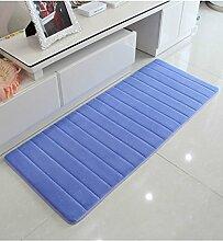 Teppich Wasser-Absorption rutschfester einfacher Normallack-Teppich-Vierecks-Badezimmer-Wohnzimmer-Sofa-Teppich-Hall-Schlafzimmer-Teppich Lebensmittel ( Farbe : A , größe : 60*160CM )