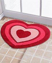 Teppich Wasser-Absorptions-Matten-Tür-Matten-Wohnzimmer-Schlafzimmer-runder Gleitschutzfuß-Wolldecke Lebensmittel ( Farbe : C , größe : 62*49CM )