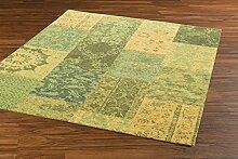 Teppich Webteppich grün Vintage Style 120 cm x 170 cm Mona Lisa 1