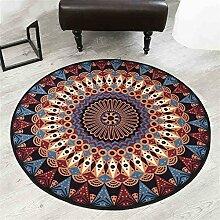 Teppich weich und bequem / stilvollFamilienbedarf Amerikanischer Art-Art- und Weisekreativer kreisförmiger Teppich-Schlafzimmer-Wohnzimmer-Couchtisch Sofa-Computer-Stuhl Rutschfeste runde Decke Familienbedarf ( größe : 130*130cm )