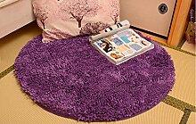 Teppich weich und bequem / stilvollFamilienbedarf Eindickung Chenille Rund Teppich Anti-Blockier-System Study Computer Stuhl Decke hängenden Korb Aufzüge Teppich Familienbedarf ( Farbe : # 1 , größe : 140x140cm )