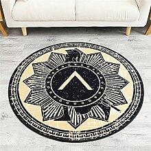 Teppich weich und bequem / stilvollFamilienbedarf Europäischer Stil Retro Persönlichkeit Runder Teppich Wohnzimmer Kaffeetisch Schlafzimmer Studium Computer Stuhl Runde Decke Familienbedarf ( größe : 130*130cm )