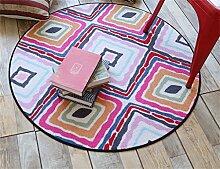 Teppich weich und bequem / stilvollFamilienbedarf Heimtextilien Runde Teppiche Moderne Minimalist Couchtisch Sofa Korb Große Teppich Schlafzimmer Decke Computer Stuhl Matten Familienbedarf ( Farbe : #7 , größe : 120*120cm )