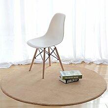 Teppich weich und bequem / stilvollFamilienbedarf Heimtextilien Runde Teppiche Full Shop Moderne minimalistische Couchtisch Sofa Korb Große Teppich Schlafzimmer Decke Familienbedarf ( farbe : Khaki , größe : 140*140cm-#1 )