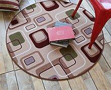 Teppich weich und bequem / stilvollFamilienbedarf Heimtextilien Runde Teppiche Moderne Minimalist Couchtisch Sofa Korb Große Teppich Schlafzimmer Decke Computer Stuhl Matten Familienbedarf ( Farbe : #2 , größe : 100*100cm )