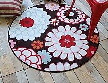 Teppich weich und bequem / stilvollFamilienbedarf Heimtextilien Runde Teppiche Moderne Minimalist Couchtisch Sofa Korb Große Teppich Schlafzimmer Decke Computer Stuhl Matten Familienbedarf ( Farbe : #4 , größe : 120*120cm )