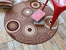 Teppich weich und bequem / stilvollFamilienbedarf Heimtextilien Runde Teppiche Moderne Minimalist Couchtisch Sofa Korb Große Teppich Schlafzimmer Decke Computer Stuhl Matten Familienbedarf ( Farbe : #9 , größe : 120*120cm )