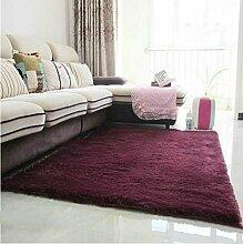 Teppich weich und bequem / stilvollFamilienbedarf Modern verdickt Seiden Teppich Wohnzimmer Couchtisch Schlafsofa Schlafzimmer Teppich Teppich Shop für Teppich (Farbe: Burgund) Familienbedarf ( größe : 0.8*2.0 M )