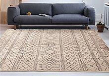 Teppich weich und bequem / stilvollFamilienbedarf Moderne einfache Schlafzimmer Decke Wohnzimmer mit einfachen modernen Sofa Teppich europäischen Mats Zimmer Schlafzimmer Nachttischdecke Familienbedarf ( größe : 120*160cm )