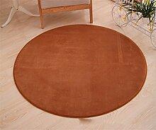 Teppich weich und bequem / stilvollFamilienbedarf Runde Teppich Koralle Samt Zelt Teppich Korb Stuhl Rutschfester Teppich Familienbedarf ( Farbe : # 13 , größe : Diameter 100cm )